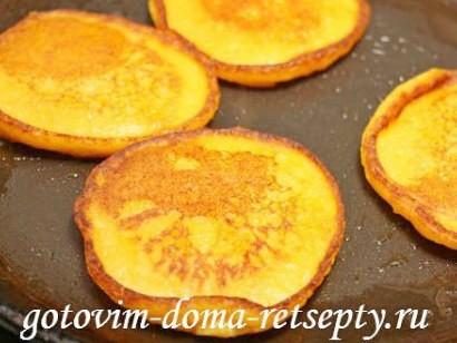 оладьи из тыквы, рецепт