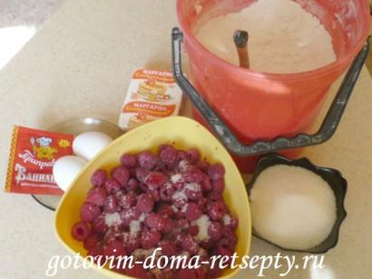 пирог с малиной рецепт1