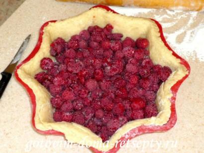 пирог с малиной рецепт8