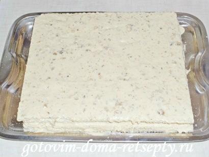 вафельный торт из коржей 10