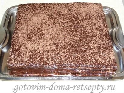 вафельный торт из коржей 12