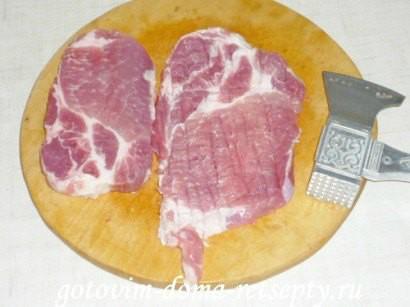 отбивные из свинины на решетке 3