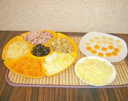 салат с грибами и сыром 2