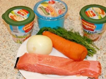 салат с семгой слабосоленой 1