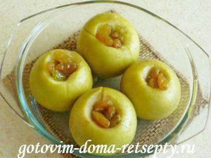 печеные яблоки рецепт в микроволновке