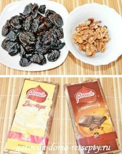 чернослив с грецкими орехами в шоколаде 1
