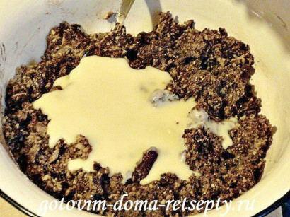 шоколадная колбаска из печенья 5