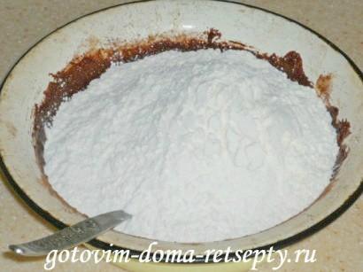 шоколадное песочное печенье с орехами 4