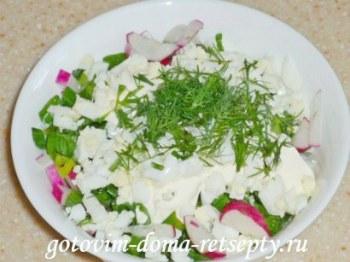 салат из огурцов с яйцом и редиской 5