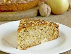Яблочный пирог с орехами - пошаговый рецепт с фото