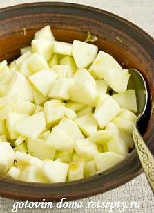 пирог с яблоками и орехами 2