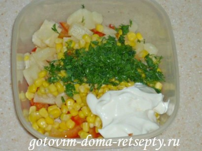 салат с курицей и ананасами рецепты 81