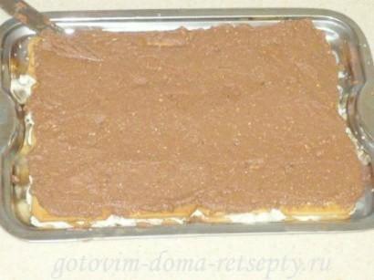торт из печенья без выпечки с творогом 13