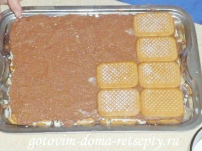 торт из печенья без выпечки с творогом 14