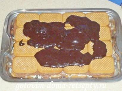 торт из печенья без выпечки с творогом 15