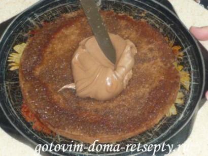 шоколадный бисквитный торт с зефиром 12