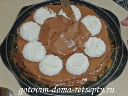 шоколадный бисквитный торт с зефиром 16