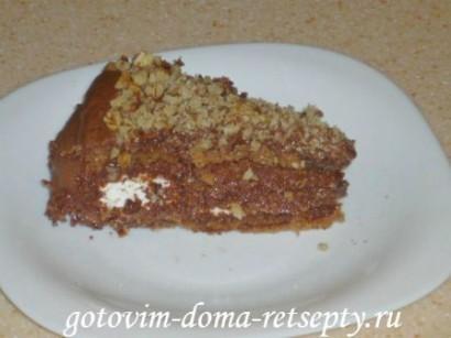 шоколадный бисквитный торт с зефиром 20