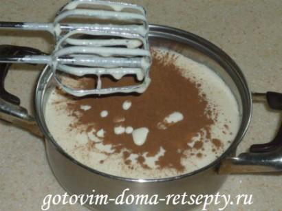 шоколадный бисквитный торт с зефиром 3