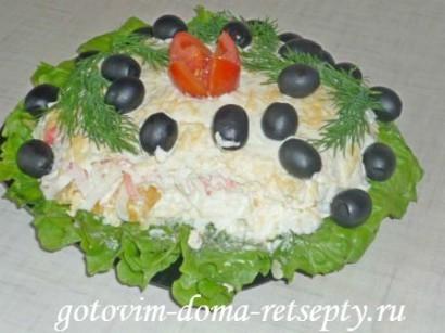 салат из крабовых палочек сыра и ананасов 10
