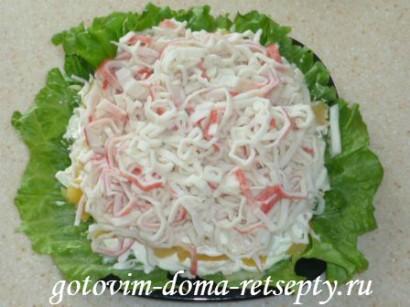 салат из крабовых палочек сыра и ананасов 6