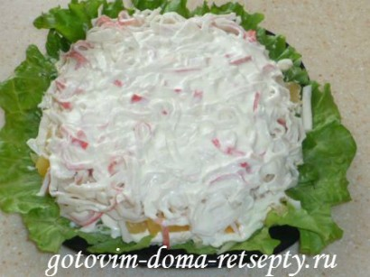 салат из крабовых палочек сыра и ананасов 7