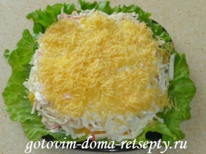 салат из крабовых палочек сыра и ананасов 8