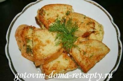 гренки из хлеба, рецепт с молоком и яйцами