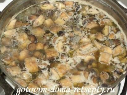 грибной суп из шампиньонов рецепт 6
