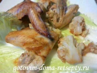 куриные крылышки в духовке, в соусе 8