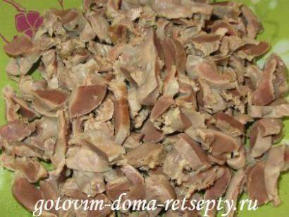 куриные желудки, рецепт в сметане 5