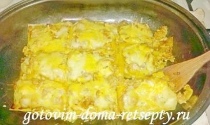 лазанья с фаршем и соусом бешамель 11