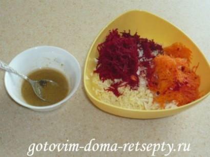 салат из капусты, свеклы и моркови 6