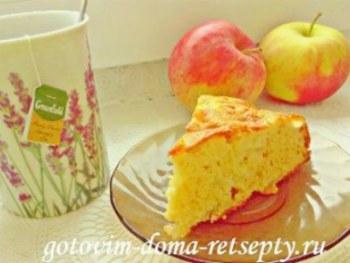 закрытый пирог с яблоками