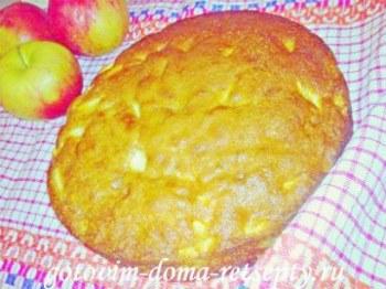 закрытый пирог с яблоками 17