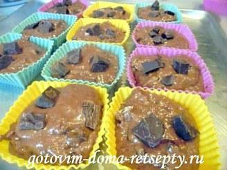 шоколадные кексы в силиконовых формочках 9