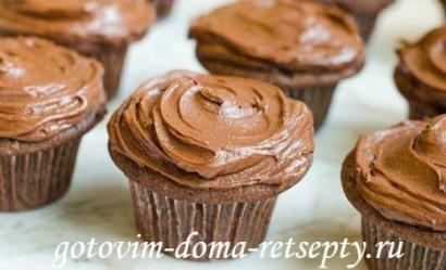 шоколадные маффины с кремом 8
