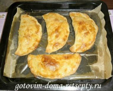 слоеные пирожки с рисом и сыром 11