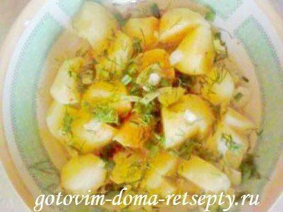 cалат из картофеля с зеленью 3
