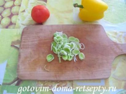 мясо тушеное с кабачком и перцем 5