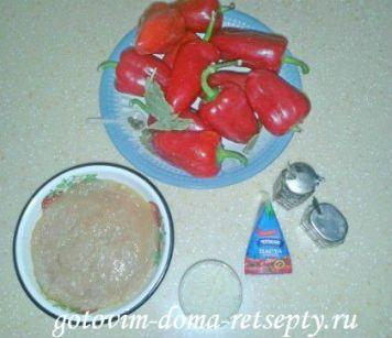 перец фаршированный рисом и куриным фаршем 2