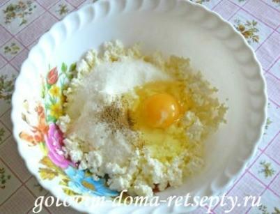 песочный пирог с творогом и изюмом 8