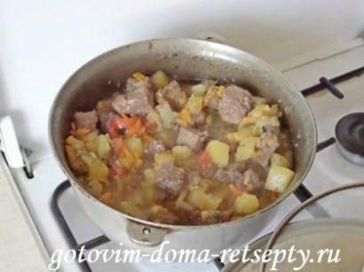 мясо с кабачками и помидорами 13