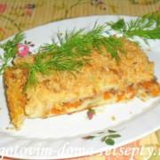 картофельная запеканка с морковью и орехами