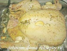 курица запеченная с овощами в духовке целиком 8