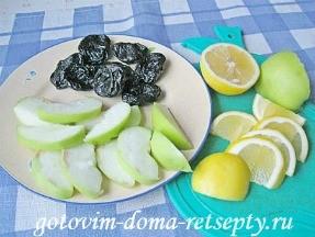 куриная грудка с яблоками и черносливом 4