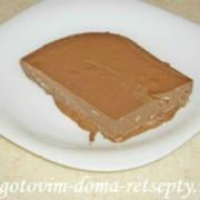 шоколадный торт из печенья и желе