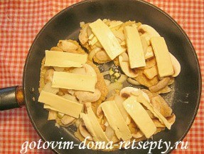 куриные отбивные с сыром и грибами 14