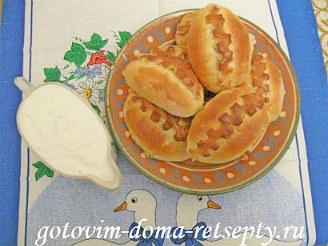 пирожки с картошкой и грибами, в духовке