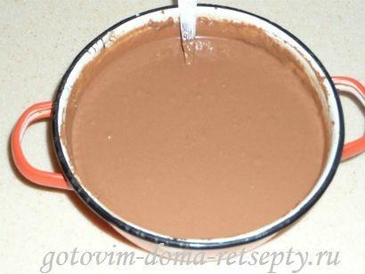 шоколадный торт из печенья и желе 10